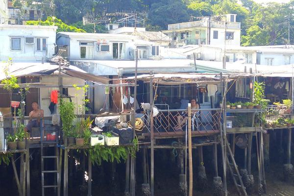 Stilt houses in Tai O Hong Kong