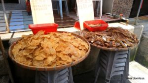Dried seafood for sale at Tai O market