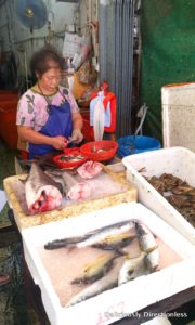 Fresh fish for sale at Tai O market