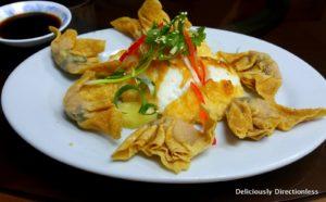 Squid cake with dumplings