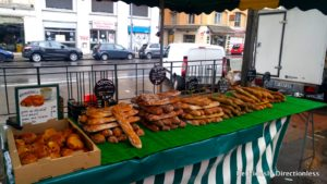 Breads at Marché Quai Saint-Antoine Lyon France