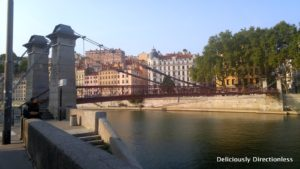 Bridge on the River Saone Lyon France