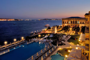 Ciragan Palace Kempinski Istanbul Exterior at Night-001