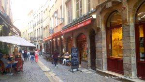 Cobbled streets of Lyon France