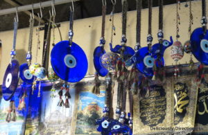 Evil eye trinkets at Grand Bazaar