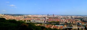 Panorama View from Fourviere Hill Lyon France
