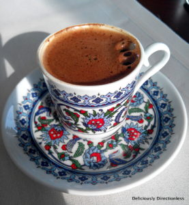 Turkish Coffee at Ciragan Palace Kempinski Istanbul