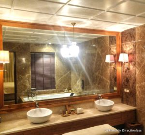 Bathroom of suite at Suryagarh Jaisalmer