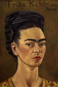 Frida Kahlo, Self-Portrait with Red and Gold Dress, 1941 © Gerardo Suter_The Jacques and Natasha Gelman Collection of 20th Century Mexican Art and The Vergel Foundation