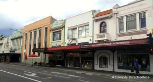 Art Deco facades in Napier