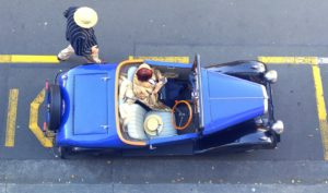 Vintage car in Napier New Zealand