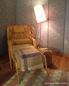 Cane chair in Republic Suite at Narendra Bhawan