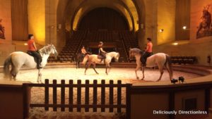 Horse demonstration at Grandes Écuries or Great Stables Chantilly