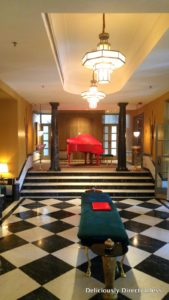 Inner veranda of Narendra Bhawan and the grand baby piano