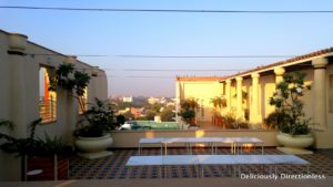 Narendra Bhawan rooftop and swimming pool with a view of Bikaner