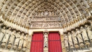 Amiens Cathedral facade detail