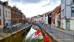 Canals in medieval district of Saint-Leu Amiens