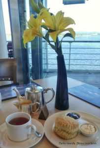 Cream Tea on Royal Yacht Britannia