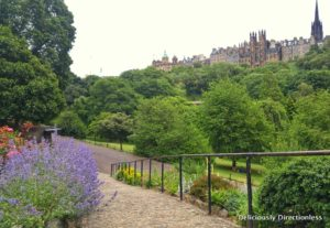 Edinburgh Old Town from Princes Street Garden
