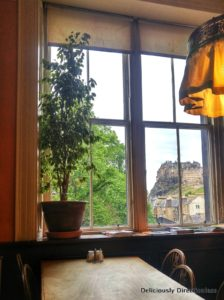 View from Elephant House Cafe Edinburgh