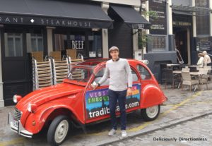 Vintage car & driver in Lille