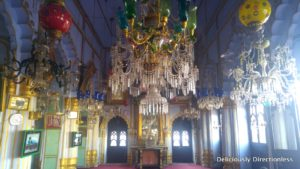 Chandeliers in hall of Chota Imambara Lucknow