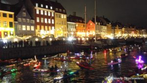 Lucia Kayak Parade in Copenhagen