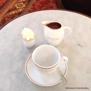 Hot Chocolate at Angelina Paris