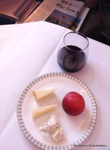 Cheese platter Singapore Airlines Business Class