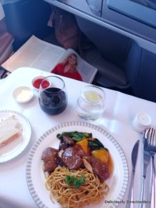 Meal 2 Singapore Airlines Business Class