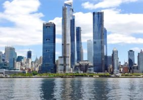 Manhattan skyline with Hudson Yards