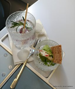 Napue Gin and Tonic on-board Finnair Business Class