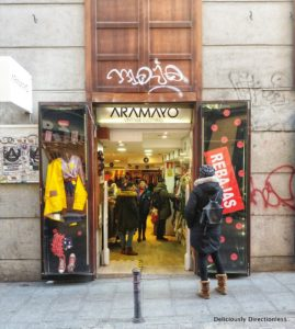 Vintage shops in Malasana Madrid