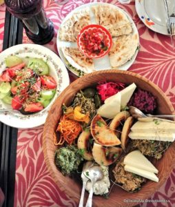 Assorted Pkhali with salad & bread