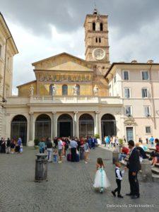 Basilica di Santa Maria in Trastevere Rome exterior