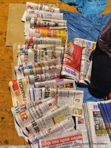 Newspaper distributor at CST