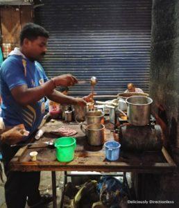 Tea vendor near CST
