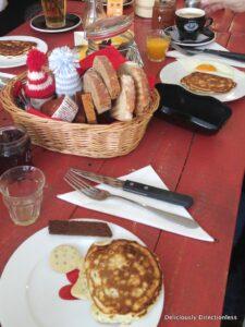 Breakfast of pancakes in Amsterdam