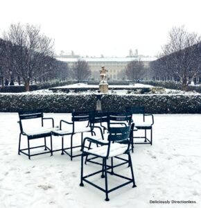 Jardin du Palais-Royal in winter